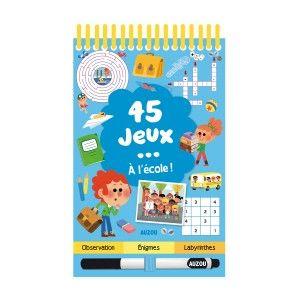 Editions Auzou 45 Jeux... A l'école !