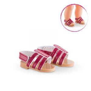 Corolle Sandales Cerise - Chaussures pour poupée 36 cm