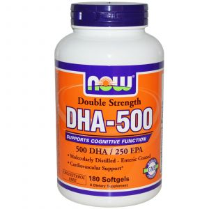 Now Foods DHA-500, Double Strength 180 Softgels