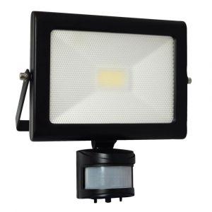 Tibelec Projecteur LED 20W avec Détecteur Noir
