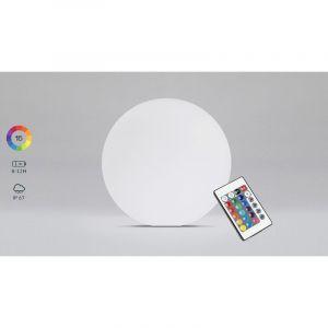 Boule LED d'extérieur rechargeable multicolore Ø40cm