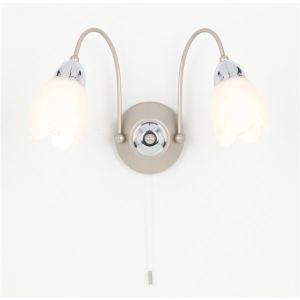 5000100932 - Applique murale Raphaël en chrome deux lampes
