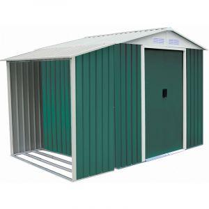 """Habitat et Jardin Abri de jardin métal """"""""Rosas"""""""" 4,07 m² avec abri bûche"""
