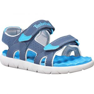 Timberland Perkins Row-2-Strap, sandale junior Mixte Enfant, Bleu