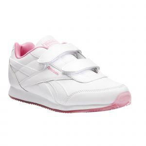 Reebok Royal Classic Jogger 2 2v Kid EU 28 White / Posh Pink / None - White / Posh Pink / None - Taille EU 28