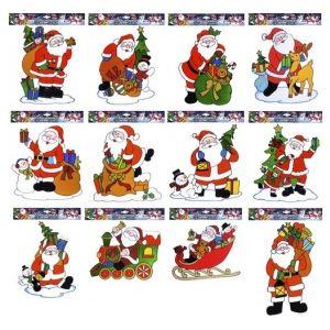 Décoration pour fenêtres : Père Noël