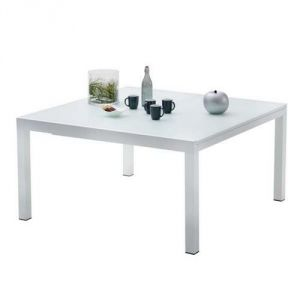 Wilsa Whitestar - Table de jardin 8/12 places 150/240 x 150 x 76 cm