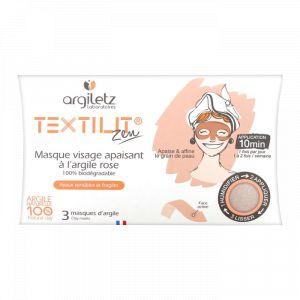 Argiletz Textilit - Masque visage apaisant à l'argile rose