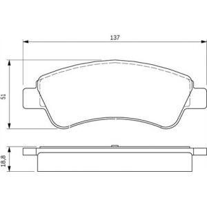 Bosch BP318 - 4 Plaquettes de frein Avant
