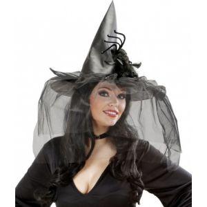 Widmann Chapeau sorcière avec voile adulte