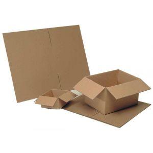 Majuscule Cartons d'emballage - Double cannelure - 680x520x150 - 30kg - Paquet de 15