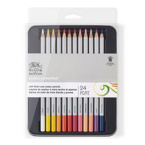 Winsor & Newton Set de 24 crayons de couleur Studio