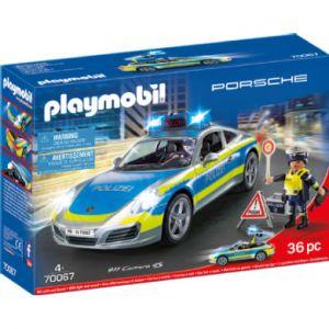 Playmobil 70067 City Action Porsche 911 Carrera 4S Police, Multicolore - Version Allemande