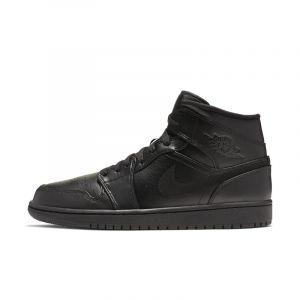 Jordan Chaussure Air 1 Mid pour Homme - Noir - Taille 44.5 - Male