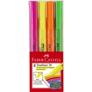 Faber-Castell Surligneur TEXTLINER 38, étui de 4 - Lot de 4
