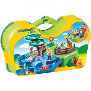 Playmobil 6792 - 1.2.3 : Valisette zoo et bassin