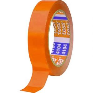 Tesa Ruban adhésif d'emballage 04104-00376-00 orange (L x l) 66 m x 50 mm caoutchouc 1 rouleau(x)