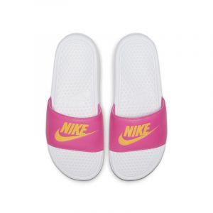 Nike Claquette Benassi Femme - Blanc - Taille 39 Female