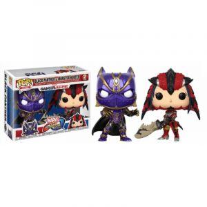Funko Figurine Marvel Vs Capcom - Bi Pack Black Panther Vs Monster Hunter Pop 10cm