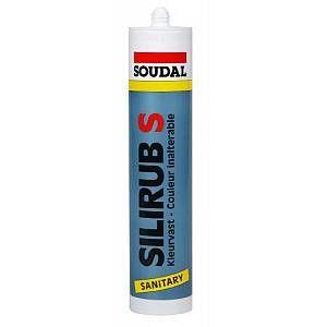 Soudal Silirub S Mastic spécial sanitaire et cuisine 310ml blanc (Par 15)