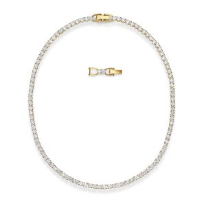 Swarovski Collier 5511545 - Collier métal argenté chaine maille Femme