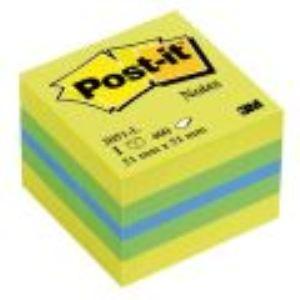 Post-It Bloc-notes Cube Néon 400 feuilles (51x51 mm)