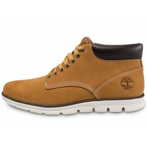 Timberland Bradstreet Leather Sensorflex, Bottes Chukka Homme, Jaune (Wheat Nubuck), 43 EU