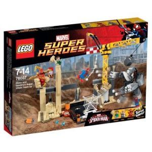 Lego 76037 - Super Heroes : Marvel Comics - L'équipe de Super Vilains de Rhino et de l'Homme-Sable