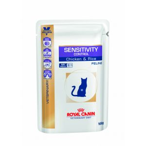 Royal Canin Veterinary Diet Cat Sensitivity Control au poulet 12x100g - Alimentation médicale pour chat