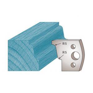 Diamwood Platinum Jeu de 2 fers profilés Ht. 40 x 4 mm doucine M31 pour porte-outils de toupie