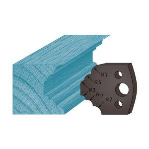 Diamwood Platinum Jeu de 2 contre-fers profilés Ht. 38 x 4 mm quart de rond et congé A21 pour porte-outils de toupie