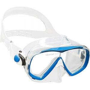 Cressi Sub S.p.A. Estrella Jr Mask Masque de Plongée Mixte Enfant, Transparent/Bleu, Uni