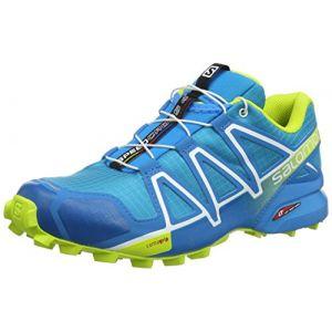 Salomon Femme Speedcross 4 Chaussures de Trail Running, Bleu (Hawaiian Surf/Acid Lime/White), Taille: 47 1/3