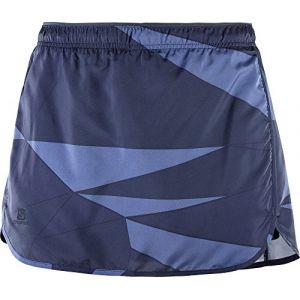 Salomon Femme Jupe-Short de Course, Agile Skort, Mélange Synthétique, Bleu, Taille XL, L40129100