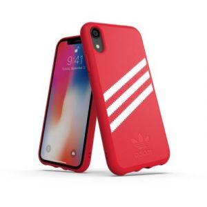 Adidas Coque Originals iPhone XR Rouge / Blanc - SUEDE FW18
