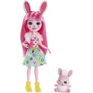 Mattel ENCHANTIMALS - Bree Lapin & Twist - Mini Poupée 15 cm & sa figurine animal