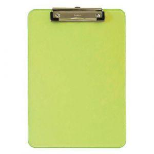 Maul Porte-bloc A4 neon vert, plastique avec pince arceau,