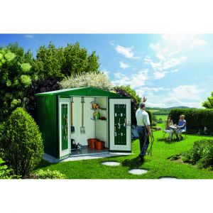 Biohort Abri de jardin en métal Europa Taille 4A Vert Foncé