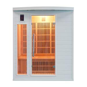 France Sauna Soleil Blanc 3 - Sauna cabine à infrarouge pour 3 personnes