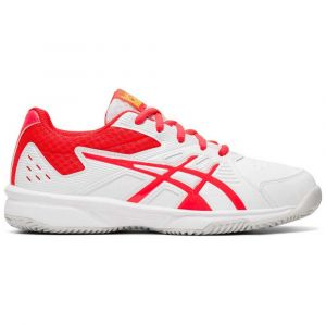 Asics Baskets Court Slide Clay Gs - White / Laser Pink - Taille EU 34 1/2
