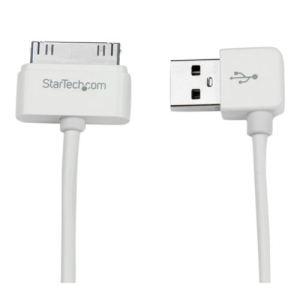 StarTech.com USB2ADC1MUR - Câble Apple Dock Connector 30 broches vers USB coudé à angle droit pour iPad, iPhone, iPod 50 cm