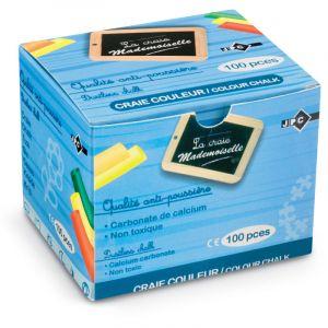 JPC Boite de 100 craies anti-poussière coloris assortis - Lot de 4