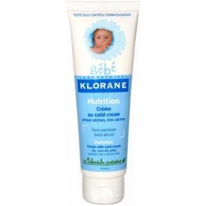 Klorane Bébé Crème nutritive au cold cream - 125 ml