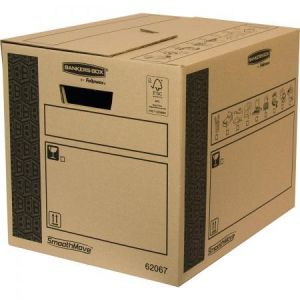 Fellowes 6206702 - Lot de 10 cartons de déménagement Bankers Box SmoothMove, 41 litres / 80 kg, en carton recyclé naturel