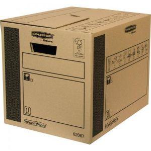 Fellowes 6206702 - Lot de 10 cartons de déménagement Bankers Box SmoothMove, 41 litres / 80 kg, en carton recyclé naturel
