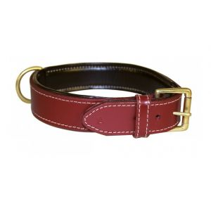 Bobby Collier Grand Chien Cuir haute Finition Rouge, Taille 65