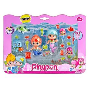 Famosa Pinypon Coffret 6 figurines Pirate et sirènes