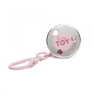 Suavinex Attache sucette Rose & Bleu Toys rose clair et argenté (motif aléatoire)