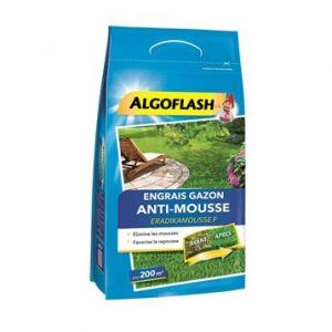 Algoflash Engrais gazon antimousse 6kg 400 m²