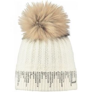 Barts Bonnet enfant - Bonnet blanc pompon imitation fourrure Modèle Femme 8dfe71a36ac